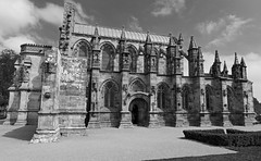 Rosslyn chapel (Da Vinci code) (Dave Russell (1 million views thanks)) Tags: bw black white mono monochrome building architecture stone chapel church holy place knights templar da vinci code film filming location history historic old ancient monument outdoor rosslyn rosslin edinburgh scotland scottish scot travel tourism blackandwhite davinci religion religious