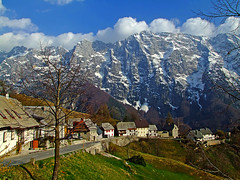 Strmec with Loska stena (Vid Pogacnik) Tags: julianalps outdoors hiking landscape mountain loškastena strmec village slovenia slovenija