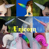 Unicorn 2018 collage (AnnaZu) Tags: unicorn collage annazu annaku vesnushkahandmade dollfairylang horns horn magnetic polymer clay