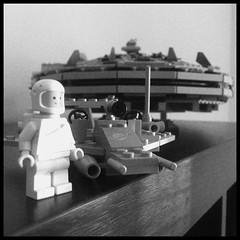Space Classic Vintage 442 (Moro972) Tags: 2011 7965 millenniumfalcon iphone6 shuttle 1979 442 border square bn bw white black biancoenero blackwhite minifigure set falcon starwars classic vintage space lego