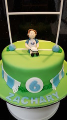 Rugby Cake (Victorious_Sponge) Tags: rugby cake boy 6th 7th 8th 9th 10th birthday blue tots