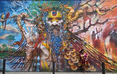 London Bricklane, Streetart 1 (chriskatsie) Tags: femme woman tag graffiti paint peinture wall mur color couleur