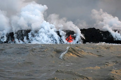 rockfire (BarryFackler) Tags: volcano kilauea steam vulcanism geology nature hawaiivolcanoesnationalpark lavaoceantours mvhotspot fissure8 lowereastriftzone lerz lava magma nationalparkservice nationalpark puna hawaii bigisland 2018 vog polynesia hawaiiisland outdoor hawaiicounty tropical sea ocean pacificocean island pacific saltwater clouds heat barryfackler barronfackler coastline coast coastal shoreline shore sky laze
