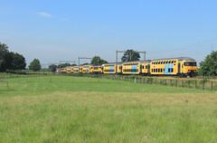 NSR 7377-1736+7336-1732 @ Hattemerbroek (Sicco Dierdorp) Tags: ns nsr reizigers ddar sprinter dubbeldekker treinstam serie1700 serie7300 hattem zwolle wezep amersfoort veluwelijn hattemerbroek