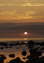 A Seascale sunset - Seascale beach, Cumbria (linda.m.davison@btinternet.com) Tags: explore summer rockpool rocks sea ocean westcumbria beach sunset seascape seascale cumbria