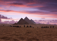 """Pyramids of Giza, Egypt (""""What's in the box?!"""") Tags: landscape travel egypt sunset architecture desert nature clouds pyramids giza history"""