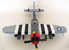 "Republic P-47D ""Thunderbolt"" (Brickmania design improved) (John C. Lamarck) Tags: avion plane ww2 war military brickmania aircraft fighter bomber"