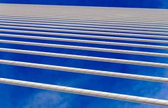 Cable vision (Adaptabilly) Tags: shadow spain triangle valència bridge travel structure ciudaddelasartesylasciencias sky cityofartandscience santiagocalatrava lumixgx7 clouds europe