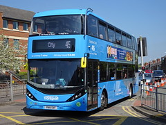 Nottingham City 435 Woodborough Road (Guy Arab UF) Tags: nottingham city transport 435 yn18svf scania n280ud alexander dennis enviro 400 bio gas bus woodborough road buses
