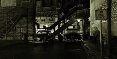 Alleyway Bridge Night (gpholtz) Tags: diorama miniatures 118 diecast 1949 ford 1954 chevrolet belair