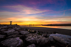 sunset.. (paolotrapella) Tags: sunset tramonto torrepanoramica mare beach spiaggia sky clouds cielo nuvole