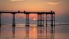 Contemplation (Justin Cameron) Tags: sunset contemplation pier coastal saltburn sunlight canon5dmkiii leegraduatedfilter canon24105mmf4l seascape saltburnbythesea