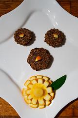 Hemp cookies with raw chocolate banana cream (Raoul Pop) Tags: hemp rawfood chocolate dessert fall orange banana medias transilvania romania ro