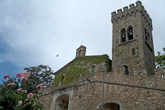 Rose rosse sulle pietre - Red roses on the stones (ricsen) Tags: italia italy toscana tuscany maremma livorno leghorn castagnetocarducci città town medievale medival medioevo middle ages chiesa church