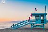 Santa Monica (Yannick Charifou Photography ©) Tags: fujifilm x100t losangeles ca usa beach barque cabane drapeau flag sunset sunrise santa monica landscape coucher lever soleil plage ciel terre mer amérique charifou ngc