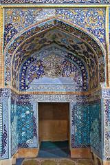 inner door (freakingrabbit) Tags: tabriz east azerbaijan iran persia mosque masjed blue tile ornament door arch kabud kaboud