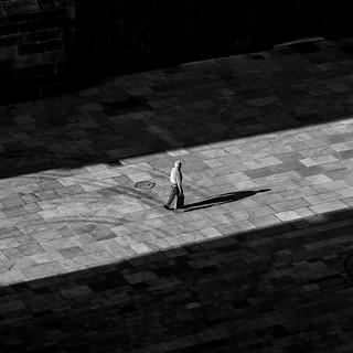 La sombra de un hombre