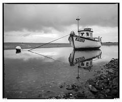 Ravenglass_HP5-2 (D_M_J) Tags: ravenglass cumbria lake district lakedistrict lakeland uk north england west coast film camera medium format 120 roll 6x7 mamiya rb67 pro sd ilford hp5 plus 400 kodak hc110 epson v850 vuescan black white bw blackandwhite mono monochrome boat shore water