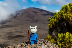 Hike on a volcano (Ballou34) Tags: 2017 7dmark2 7dmarkii 7d2 7dii afol ballou34 canon canon7dmarkii canon7dii eos eos7dmarkii eos7d2 eos7dii flickr lego legographer legography minifigures photography stuckinplastic toy toyphotography toys stuck in plastic hike volcano space classic fabuland walk rock rocks hippo sainterose saintbenoit réunion re
