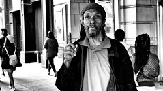DOCIAM - 1 of 2 (draketoulouse) Tags: chicago loop street streetphotography people portrait blackandwhite monochrome urban city man