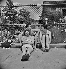 Relaxing on the edge of the municipal swimming pool on Sunday. Washington, D.C. July 1942. (polkbritton) Tags: marjorycollins 1940s washingtondchistory vintagefashion fsaowi libraryofcongresscollections