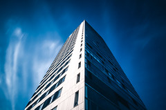 Cirrus (Bunaro) Tags: vuosaari cirrus helsinki finland suomi europe tall highrise apartment tower design shade longexposure clouds blue sky contrast architecture