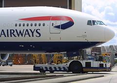G-YMMD, London Heathrow, July 28th 2003 (Southsea_Matt) Tags: gymmd britishairways boeing 777236er july 2003 summer canon d30 londonheathrow egll lhr unitedkingdom aviation airplane