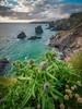 Bedruthen Steps (Timothy Gilbert) Tags: bedruthensteps coast wideangle sunset lumix m43 microfourthirds panasonic laowacompactdreamer75mmf20 microfournerds ultrawide cornwall boulders gx8