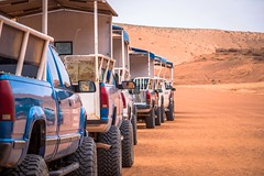 These are the trucks that take you to Antelope Canyon.