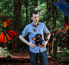 Butterflies In My Stomach (unDaily Power) Tags: idiom idioms butterflies butterfly butterfliesinmystomach butterfliesinstomach photomanipulation photoshop conceptualphotography conceptualportraitphotography composite toronto ontario canada unsplash forest