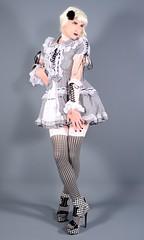 109H2L (klarissakrass) Tags: lolita legfashion stockings highheels heels gloves costume cosplay crossdress