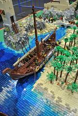 VIking Attack (The Brickstons Group) Tags: viking attack lego diorama
