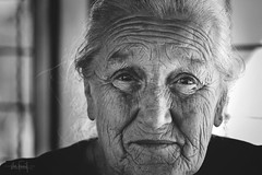Soul mirror (RuiFAFerreira) Tags: beauty bw black blackwhite white aged canon female light old oldlady portugal portrait porto eyes