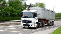 NK66 DYC (Martin's Online Photography) Tags: mercedes antos tipper truck wagon lorry vehicle freight haulage commercial transport a580 leigh lancashire nikon nikond7200