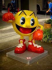 Pac Man at Bandai HQ バンダイナムコの本店前のパックマン (Shutter Chimp: Im back!) Tags: tokyo japan 東京 日本 taito taitoku 台東区 game character pac man pacman statue bandai namco パックマン キャラ キャラクター 像 ゲーム バンダイ ナムコ