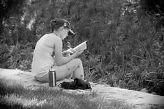 Read & Relax, Cantigny Park. (EOS) (Mega-Magpie) Tags: canon eos 60d outdoors cantigny park wheaton dupage il illinois usa america people person lady woman read book bw black white mono monochrome
