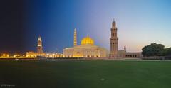 Timeslice: Sultan Qaboos Grand Mosque from Day to Night (Hafidz Abdul Kadir) Tags: ramadhan eidulfitri eid oman muscat middle east sunset timelapse islamic architecture