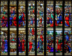 Corpus Christi (Lawrence OP) Tags: eucharist saintbrieuc cathedral stainedglass blessedsacrament window lastsupper moses melchizedek trent stthomasaquinas passover