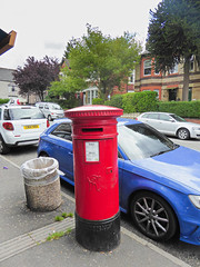 Victoria cypher A type post pillar box Caerleon Road shops Newport 04.08.2017 (2) (The Cwmbran Creature.) Tags: po p o gpo g general post office letter red street furniture heritage great britain united kingdom gb uk