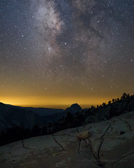 Milky Way Over Half Dome, July 2016 (Jeffrey Sullivan) Tags: nationalpark milkyway highsierra tiogapass night landscape travel photography tioga pass road reflection california usa nature canon eos 6d photo copyright july 2016 jeff sullivan sierranevada unitedstates national park united states astrophotography halfdome yosemite milky way