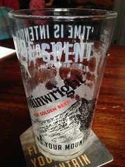 The best sort of Wainwright to bag in the rain (RoystonVasey) Tags: roaming email upload apple iphone 5 mobile cumbria lake district ldnp patterdale thwaites wainwright almost real ale beer glass empty pint