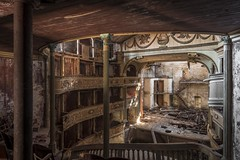 Wrecked Theatre (Camera_Shy.) Tags: teatro social italy theatre italia rotten road trip derelict old building urban exploration disused grand ornate inside seats falling down dangerous ue europe abandoned urbex abandonment nikon d810 photography abandonado
