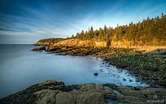 Red Rocks (Wim Air) Tags: acadia national park usa maine seashore coast long time exposure trees sunrise red wimairat