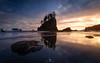 Sea Stack gallery! - Explored! (Mohanram Sathyanarayanan) Tags: nps nationalpark colors sunset reflections seastacks memorialday vibrant beach beachcamping lowangle ocean pacific washington olympic olympicnationalpark