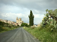 Approaching Vizzini (kimbar/Thanks for 3.5 million views!) Tags: vizzini sicily sicilia italy italia road town cactus