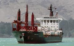 KOKOPO CHIEF Container Ship. (Bernard Spragg) Tags: kokopochief containership marine afloat lumix nautical shipsbow