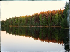 Bikepacking trip at Pirkanmaa (PeepeT) Tags: dusk iltarusko sunset auringonlasku trees järvi lake
