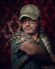 USA - Truckee - 20180423 - 1014.jpg (pedferr) Tags: portrait cinematic nature moody 4x5 red california male wild backdrop trip intense dramatic snake usa face shapes vertical redlight mystic texture editorial colorful wildlife travel pattern unitedstatesofamerica inside man scary adventure lifestyle terror animal