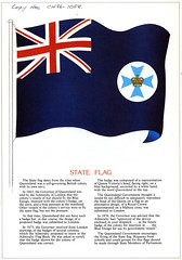 Queensland State Emblem, State Flag (Queensland State Archives) Tags: queensland state flag badge emblem government queenslandstatearchives history archives crown maltesecross colour drawing