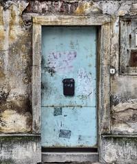 The sad blue door. (WilliamND4) Tags: deserted rundown old europe prague door blue